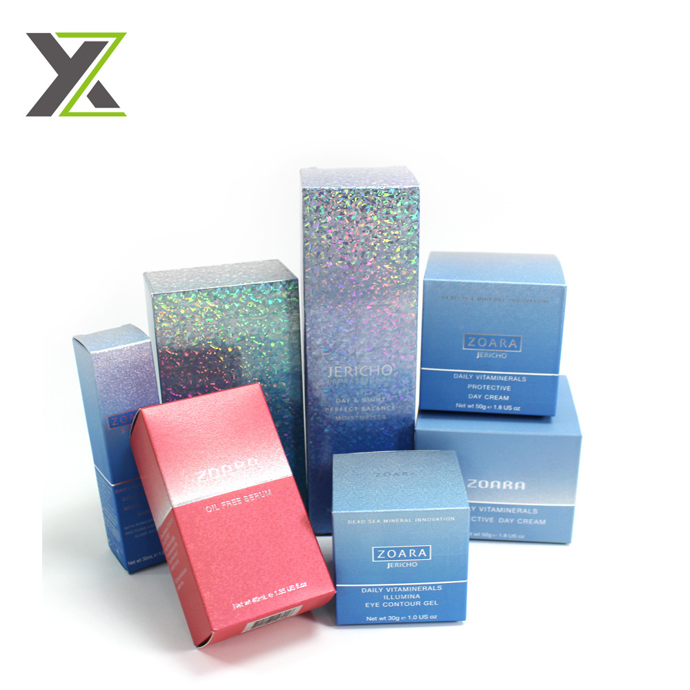 Eco friendly crystal fancy paper skin care cream boxes