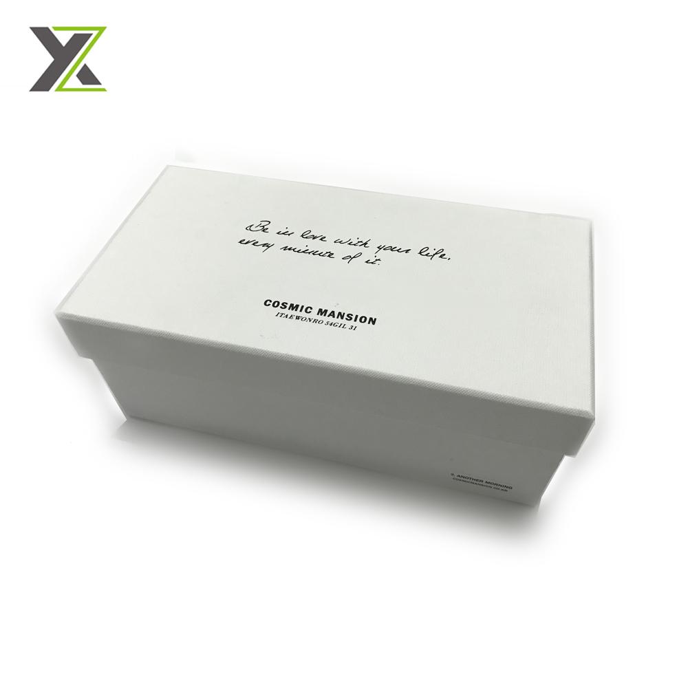 Cosmetic set fancy paper cardboard box with black foam insert